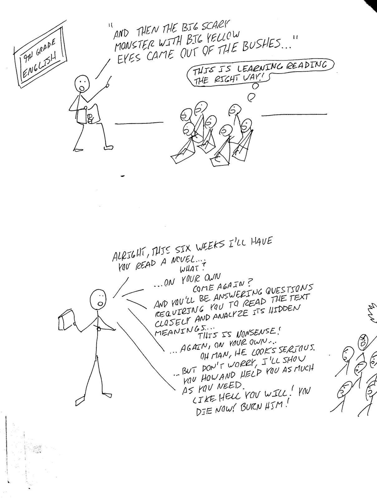 9th Grade English Comic